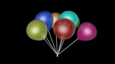 spinning balloon fancy Stock Video Footage