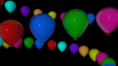 colorfull balloons spiral Animation