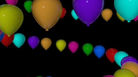 colorfull balloons spiral Stock Video Footage