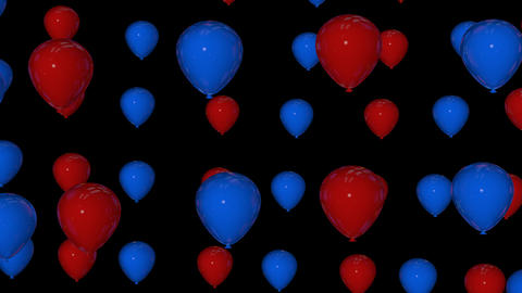 red blue balloons Stock Video Footage