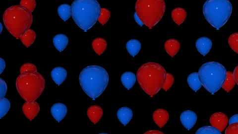 red blue balloons Animation
