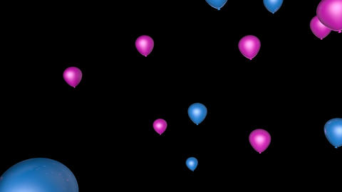 beautiful balloon transition Animation