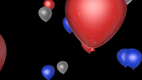 american balloons transition Stock Video Footage