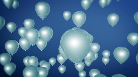 blue balloons parties Animation