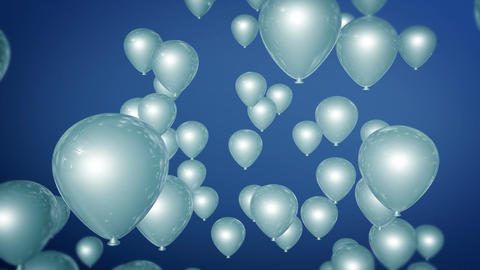 blue balloons parties Stock Video Footage