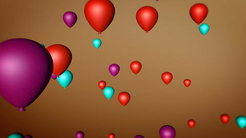 colorful balloon rotation Animation