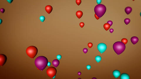 colorful balloon rotation Stock Video Footage
