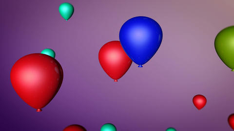 spinning colorful balloon Stock Video Footage