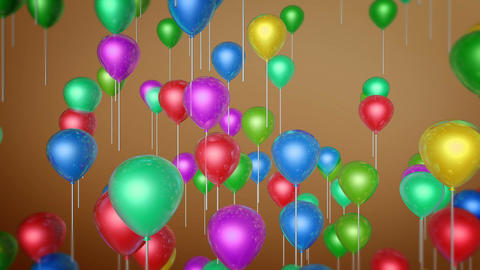 flying balloon colorful Animation