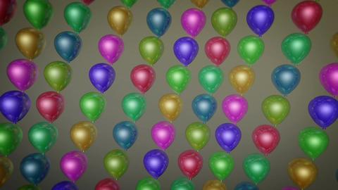 fun balloons array Stock Video Footage