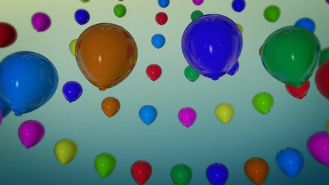 rotation balloons party Stock Video Footage