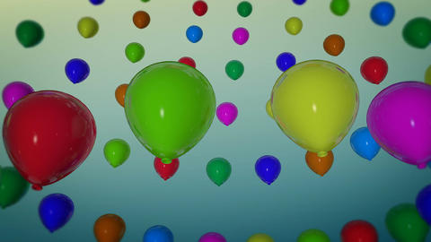 rotation balloons party Animation
