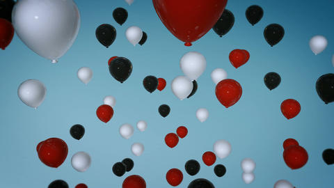 three colours balloon Stock Video Footage