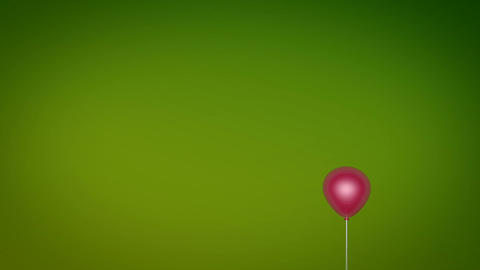 red balloon fly Stock Video Footage