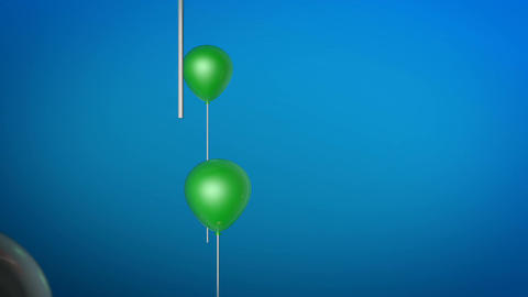 flying balloon color Stock Video Footage