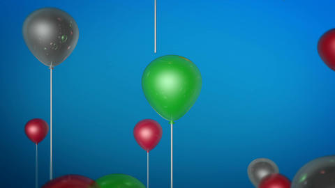 flying balloon color Animation