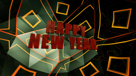 happy new year glossy Stock Video Footage