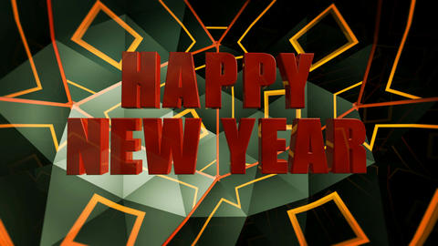happy new year glossy Animation