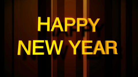happy new year vertical Stock Video Footage