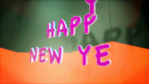 happy new year shadow Stock Video Footage