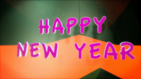 happy new year shadow Animation