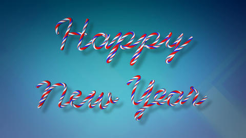 happy new year candy Stock Video Footage