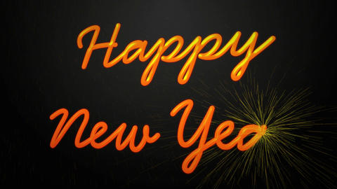 happy new year firwork Stock Video Footage