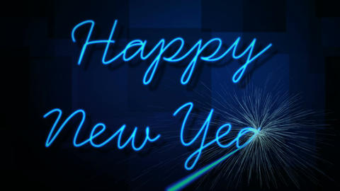 happy new year laser Stock Video Footage