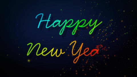 happy new year glitter Stock Video Footage