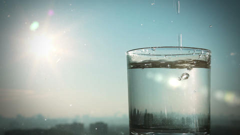conceptual footage of pouring water Stock Video Footage