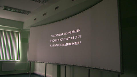 The screen in 3D cinema Stock Video Footage