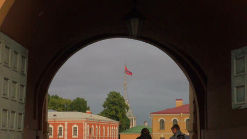 The Arch of the peter and paul fortress Stock Video Footage