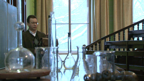 Teacher of chemistry Stock Video Footage