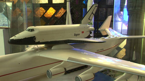 "The model of the space shuttle Buran"""" Stock Video Footage"