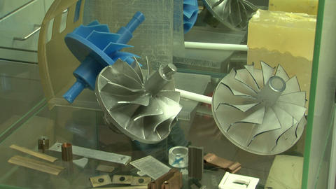 Impeller for turbine Stock Video Footage