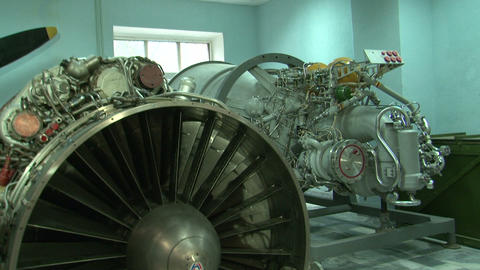 Turbojet aircraft engine Footage