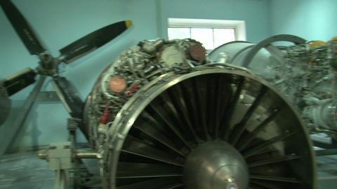 Turbojet aircraft engine Stock Video Footage