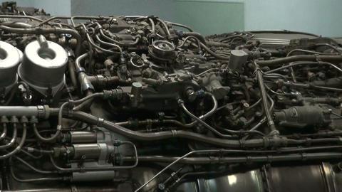 Turbojet aircraft engine Live Action