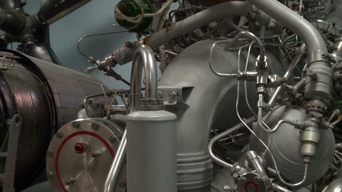 Space Shuttle Engine Parts Stock Video Footage