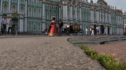 The palace square in st. Petersburg Footage