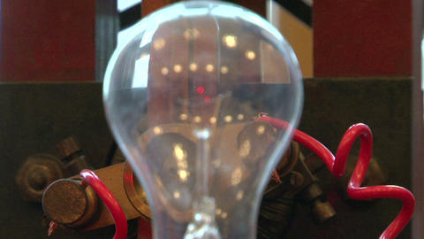 The lamp in the electric circuit Stock Video Footage