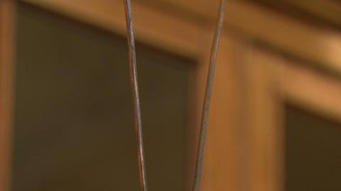 Lightning between the metal pins Footage