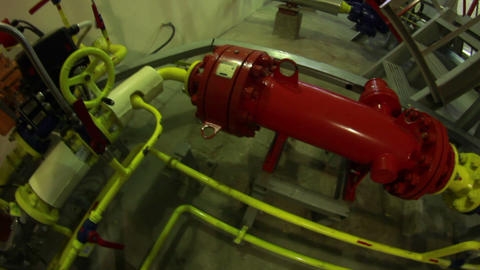 Gas boiler-house Stock Video Footage