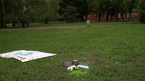 Toy helicopter on the remote control Stock Video Footage