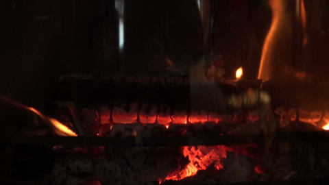 Burning fireplace Footage
