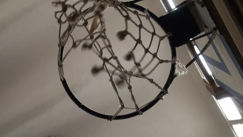 Basketball ring Stock Video Footage