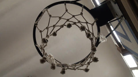 Basketball Ring stock footage