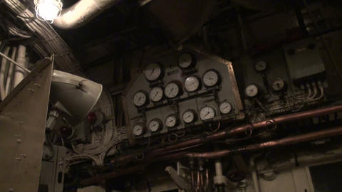 The engine room of the ship Stock Video Footage