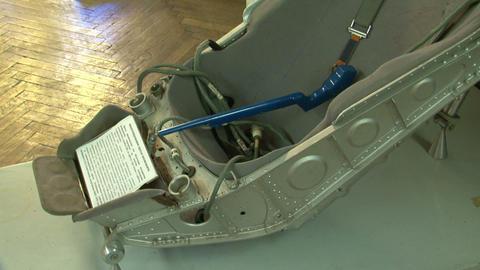 Armchair pilot-cosmonaut Stock Video Footage