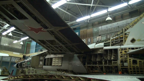 A wing of an aircraft with variable geometry Stock Video Footage